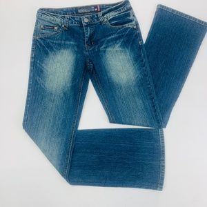 Richcow Jeans Womens 5 Blue Boot Cut Stretch Med